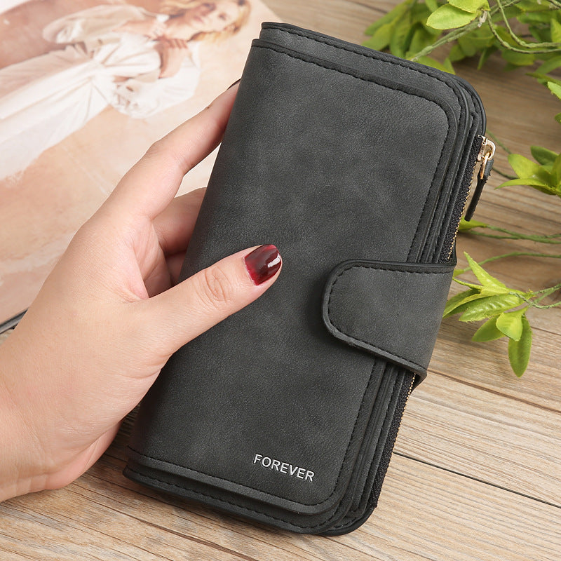 Multi Layers Leather Wallet Purse