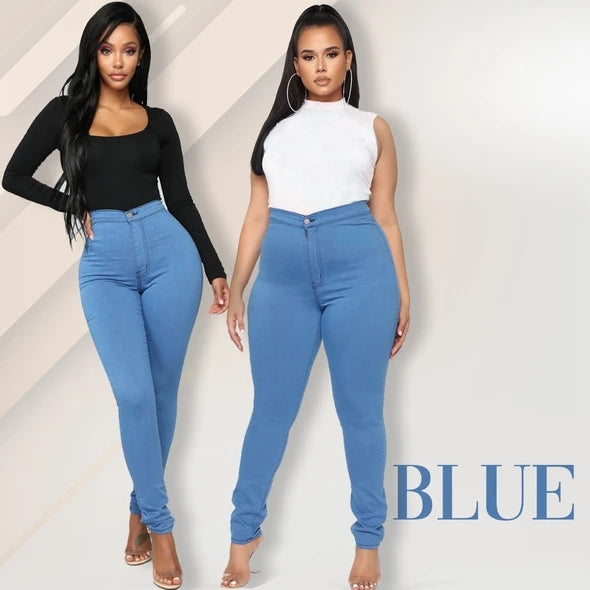 Luxe Stretch High Waist Slimming Butt Lift Plus-Size Denim Jeans