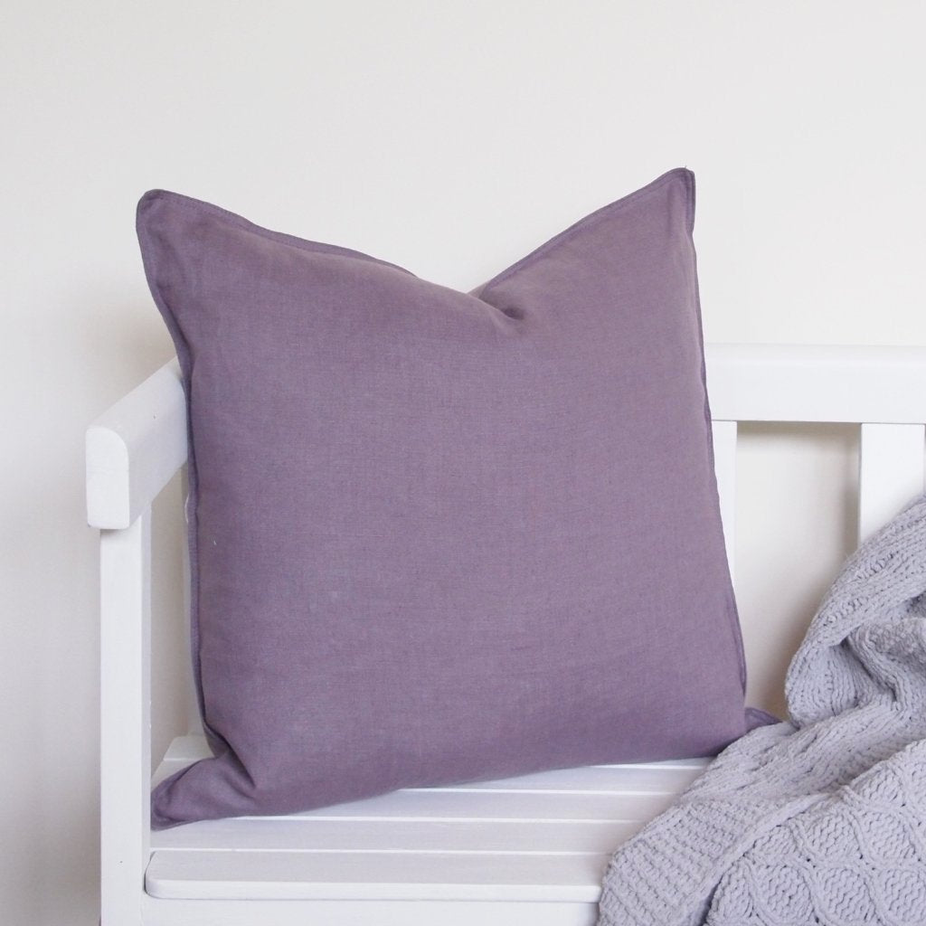 Linen Cushion - Plum