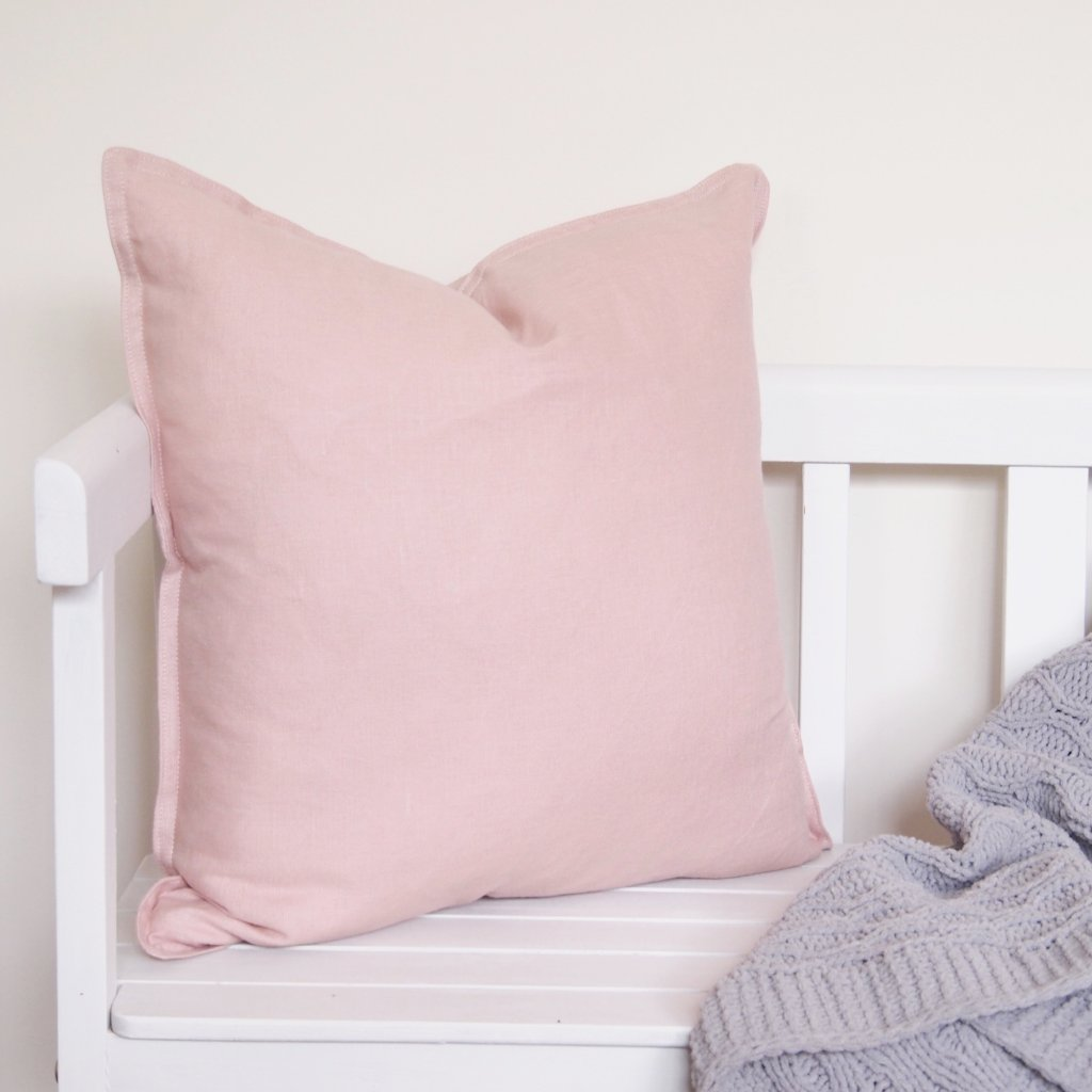 Linen Cushion - Blush