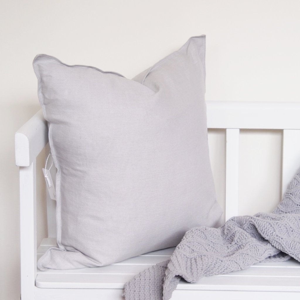 Linen Cushion - Grey