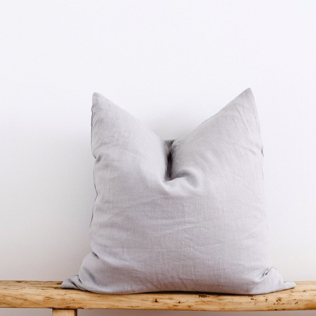 European Linen Cushion - Grey
