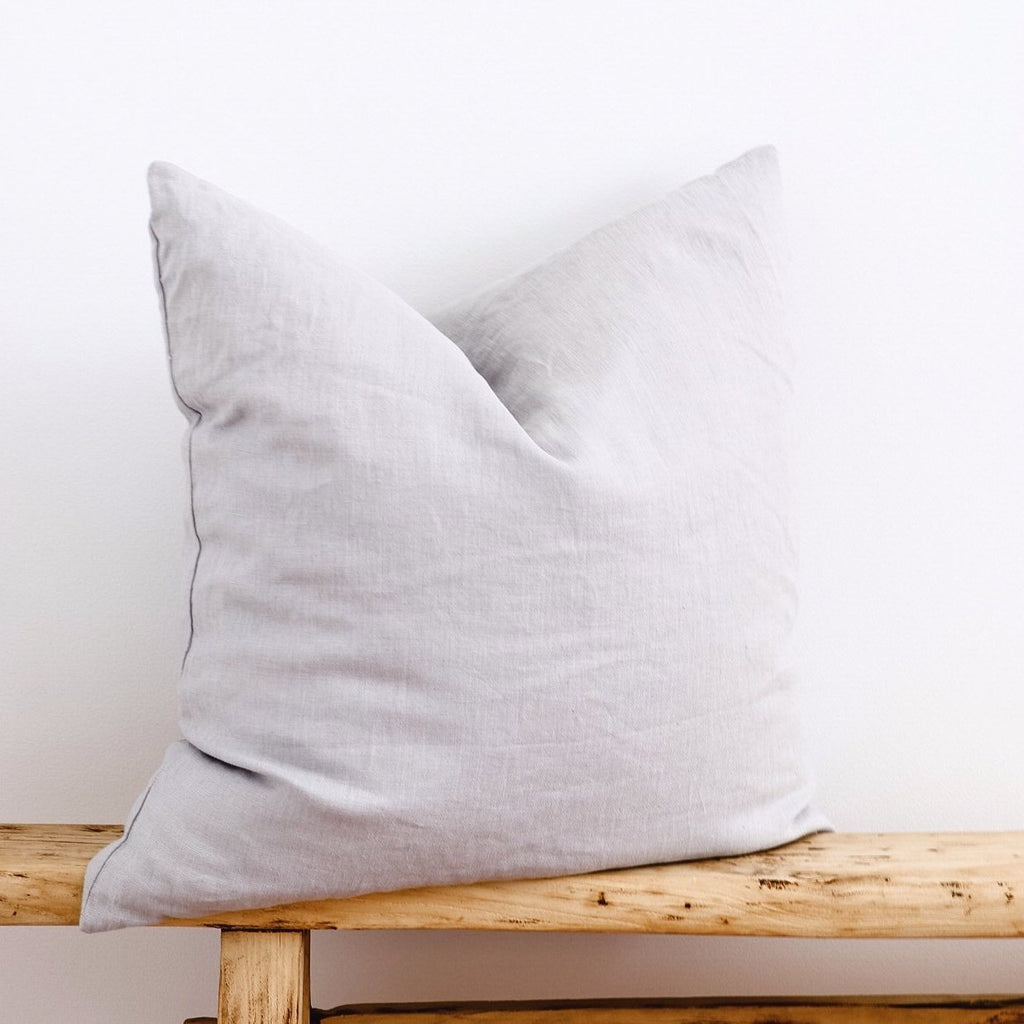 PRE-ORDER European Linen Cushion - Grey