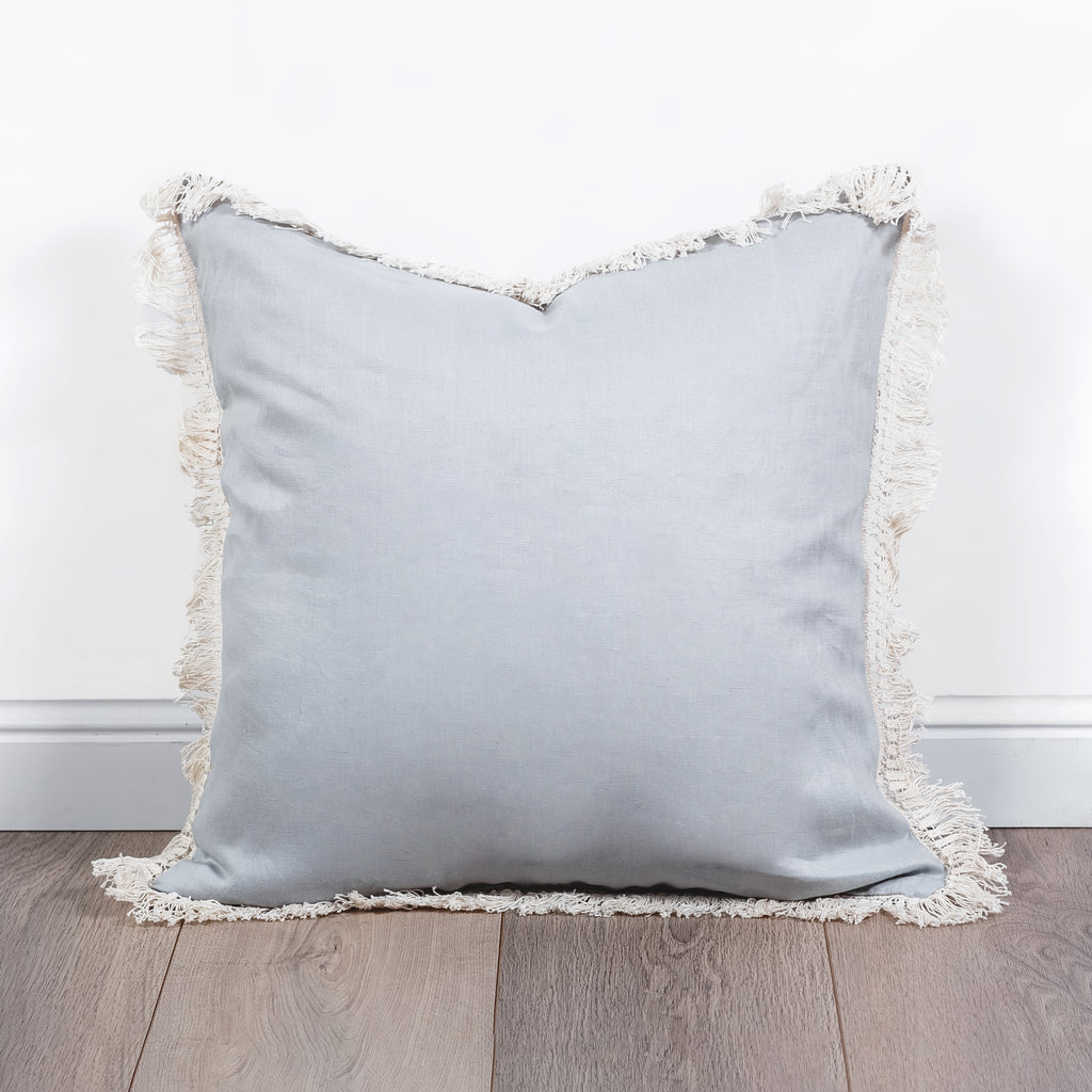 Fringe Cushion - Grey