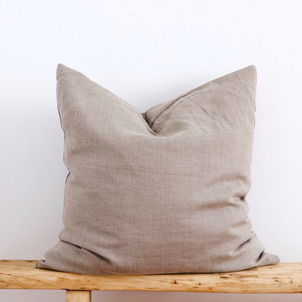 PRE-ORDER European Linen Cushion - Natural