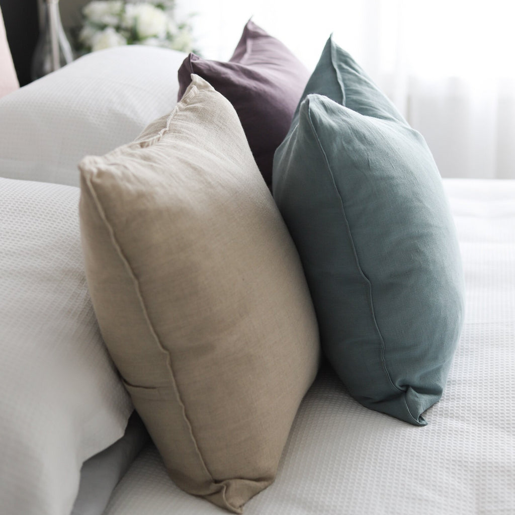 Linen Cushion - Sea Green