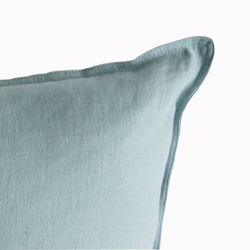 Sea Green Linen Cushion