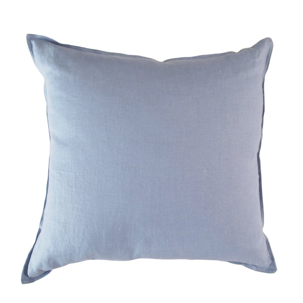 Linen Cushion - Sky Blue