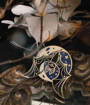 Moonlit Bat Pin