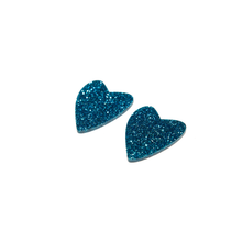 Load image into Gallery viewer, GLITTER BLUE HEART