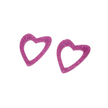 Load image into Gallery viewer, GLITTER PINK HEART