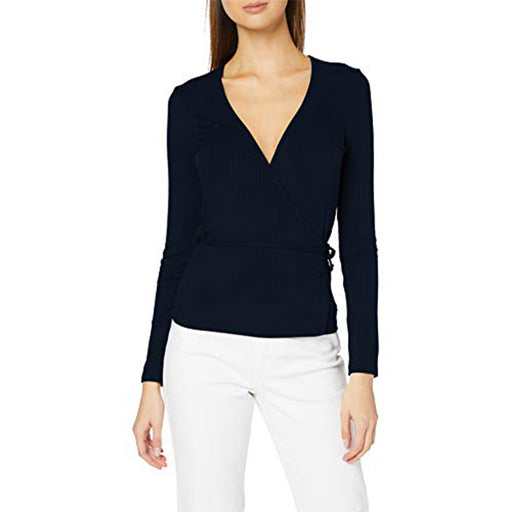 Women's Long Sleeve T-Shirt Dark blue 38 Size S (Refurbished A+)
