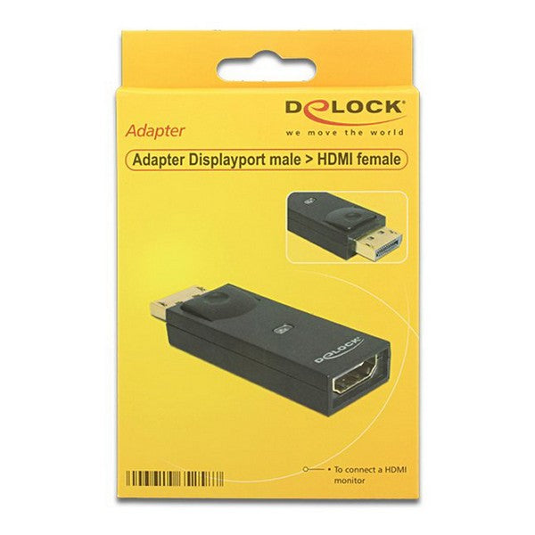 DisplayPort to HDMI Adapter DELOCK 65258 Black