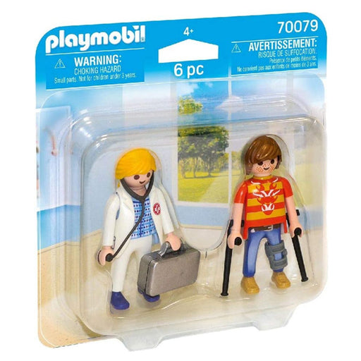 Dolls City Life Doctor And Patient Playmobil 70079 (6 pcs)
