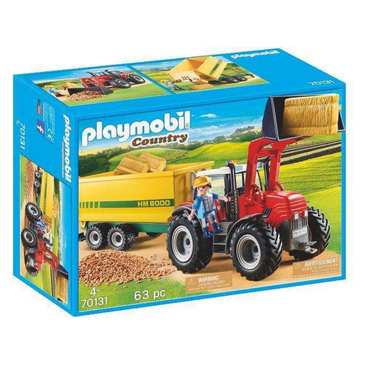 Playset Country Tractor With Trailer Playmobil 70131 (63 pcs)