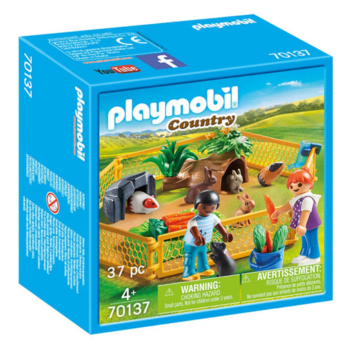 Playset Country Farm Animal Enclosure Playmobil 70137 (37 pcs)