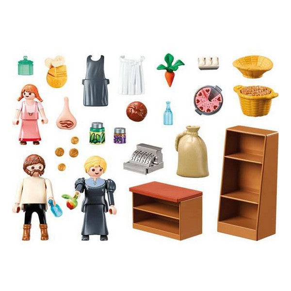 Playset City Life Keller's Store Playmobil 70257 (22 pcs)