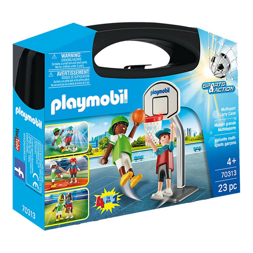 Playset Sports & Action Multisport Carry Case Playmobil 70313 (23 pcs)