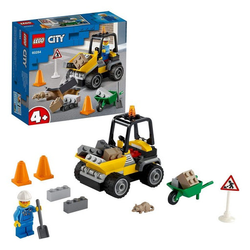 Playset City Roadwork Truck Lego 60284
