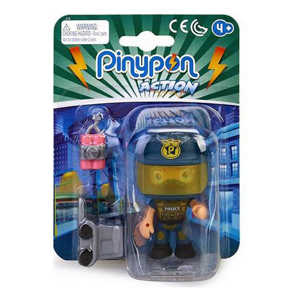Action Figure Pinypon Action Police Famosa