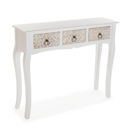 Side Table 3 drawers MDF Wood (25 x 78 x 95 cm)