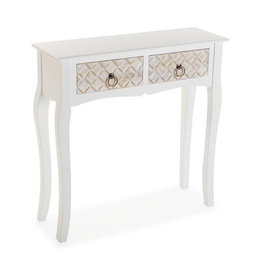 Side Table 2 drawers MDF Wood (25 x 78 x 78 cm)