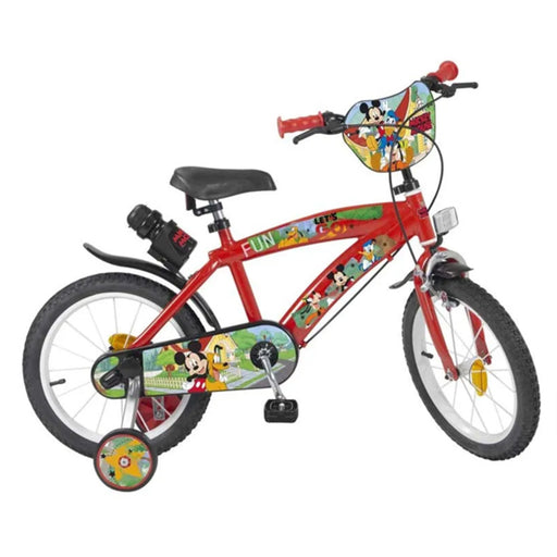 """Vélo Enfant Mickey Mouse 14"""" Rouge"""