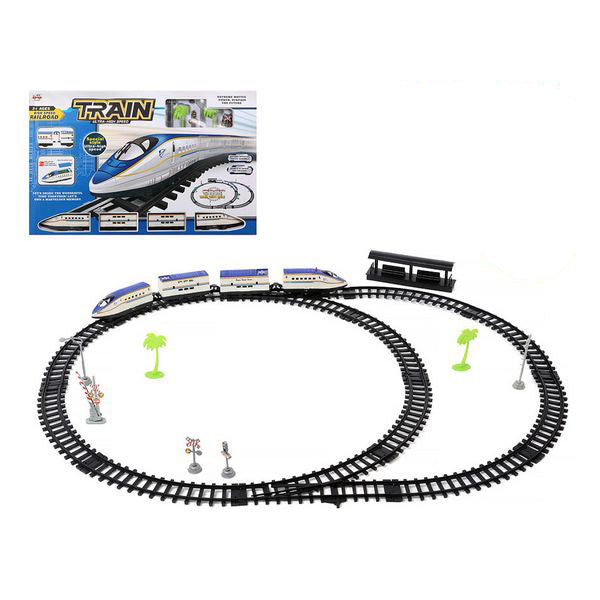 Train with Circuit White Blue 118279