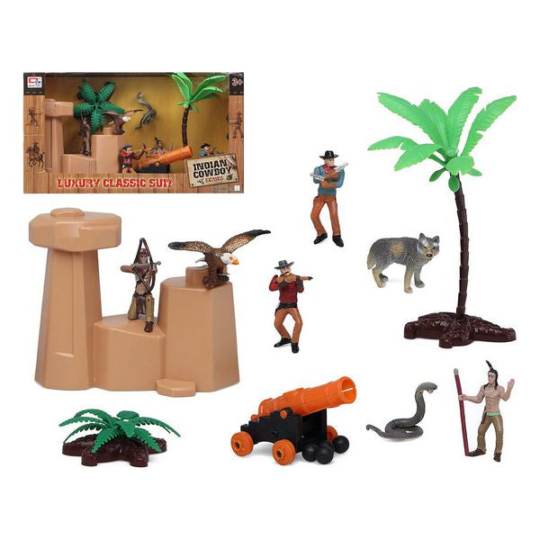 Playset Indian Cowboy 118941 (14 pcs)