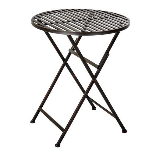 Folding Table DKD Home Decor Black Metal (60 x 60 x 73 cm)