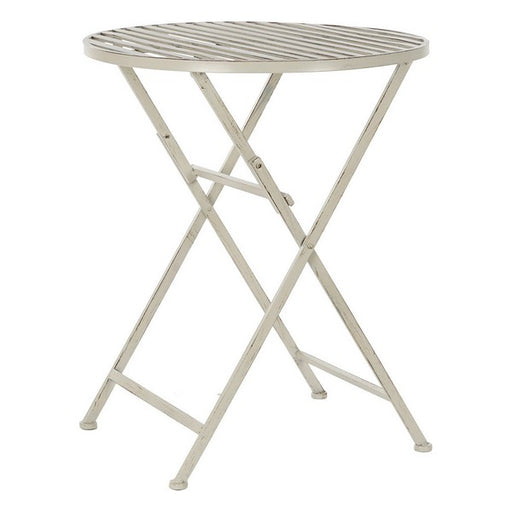 Folding Table DKD Home Decor White Metal (60 x 60 x 74 cm)