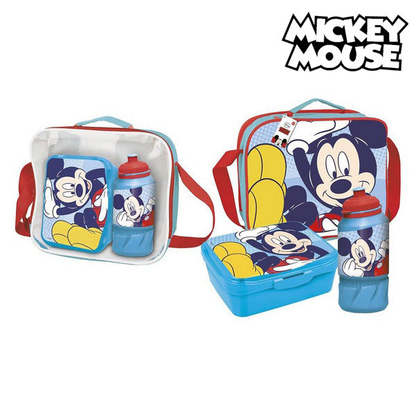 Lunchbox met Accessoires Mickey Mouse Blauw