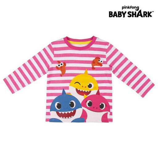 Children's Long Sleeve T-shirt Baby Shark Pink