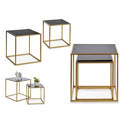 Set of 2 tables Metal Metal (50 x 50 x 50 cm)