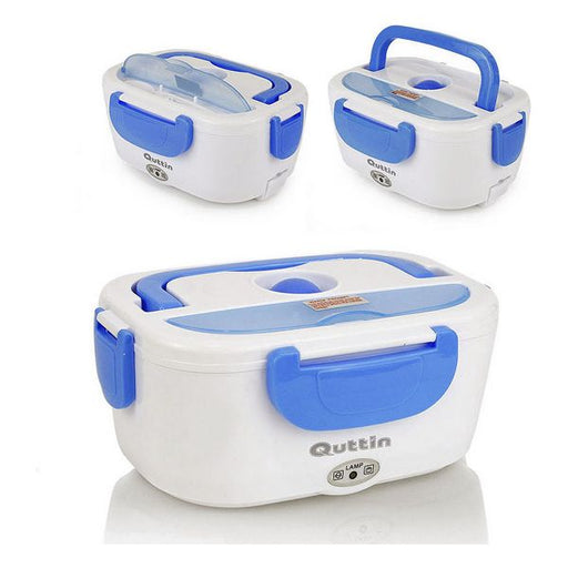 Electric Lunch Box Quttin 1,05 L White Blue