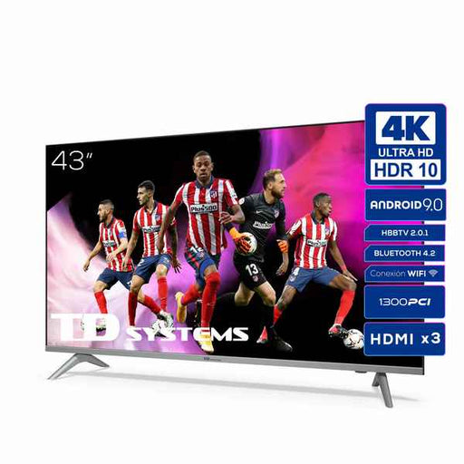 "Smart TV TD Systems K43DLJ12US 43"" Android 9 DLED UHD 4K"