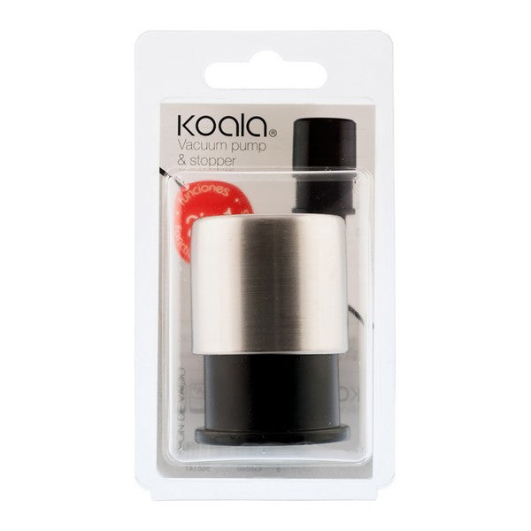 Vacuum Pump and Wine Stopper Koala Nature Plastic Silver