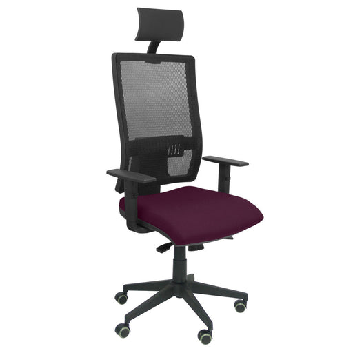 Office Chair with Headrest Horna  Piqueras y Crespo BALI760 Purple
