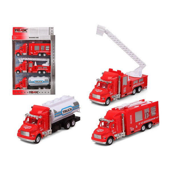 Set of cars Fire engine Red 119312 (3 Uds)