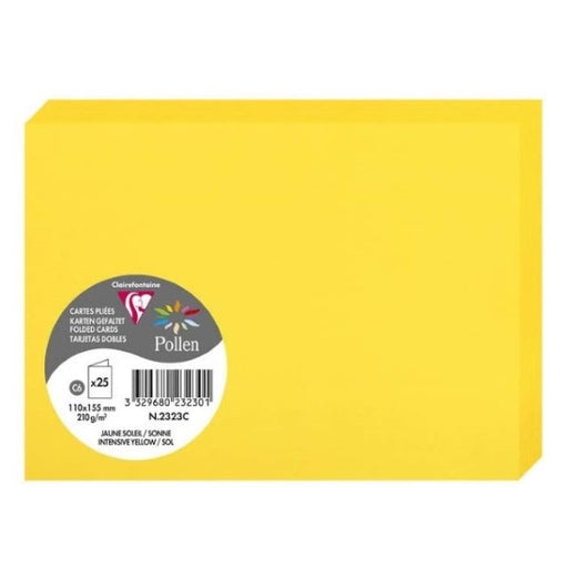 Congratulations Card Clairefontaine 2323C Double Yellow (11,1 x 15,8 cm)(25 pcs) (Refurbished A+)
