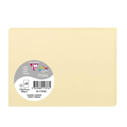 Greeting Card Clairefontaine 11376C Yellow (11 x 15,5 cm)(25 pcs) (Refurbished A+)