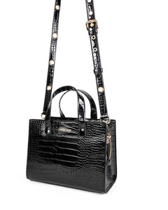 RUBIE CAMERA BAG - CROC BLACK