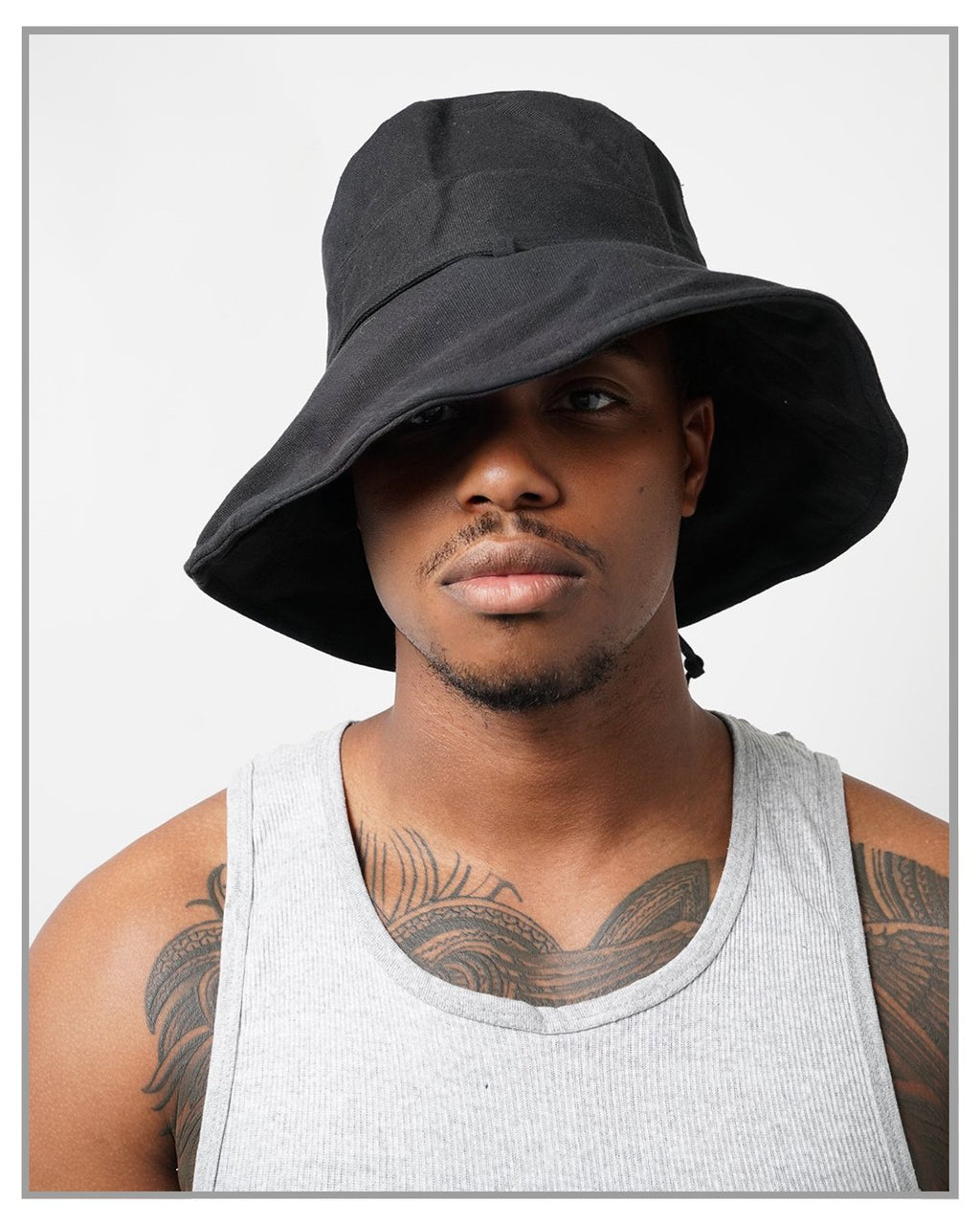 Black Canvas Bucket Hat - truthBlack