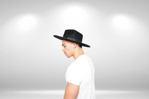 Black Fedora Hat - truthBlack