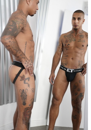Underwear - Cotton Stretch  Jock Strap - truthBlack