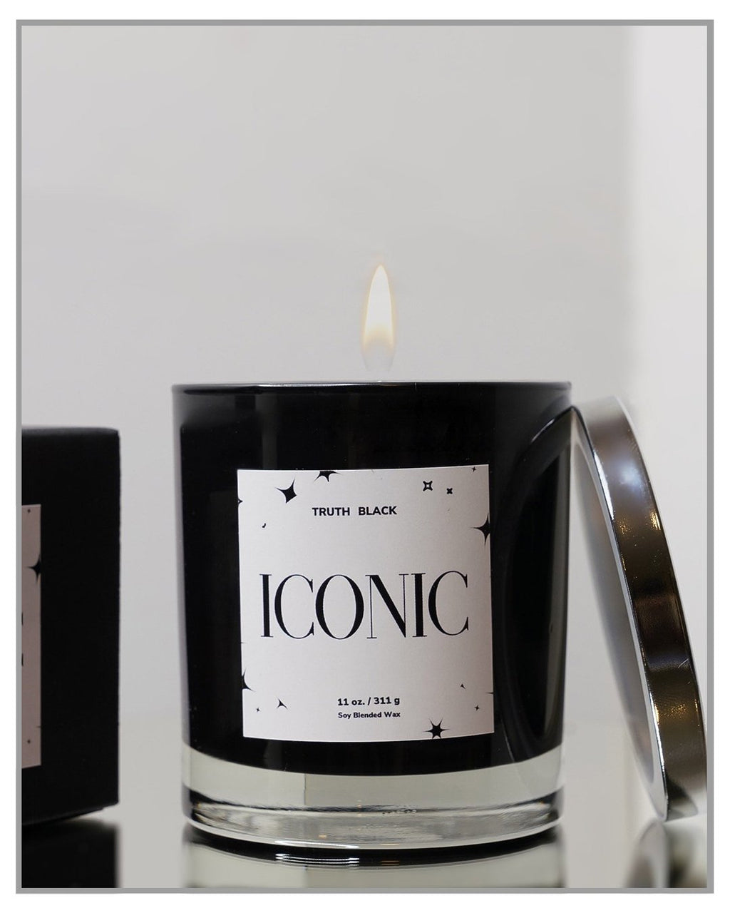 Iconic  - Luxury Hand Poured Candle - truthBlack