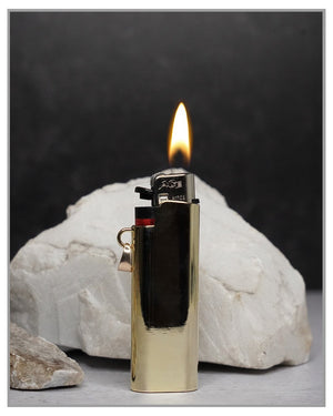 Light Em Up! |  Necklace & Lighter Case - Gold - truthBlack
