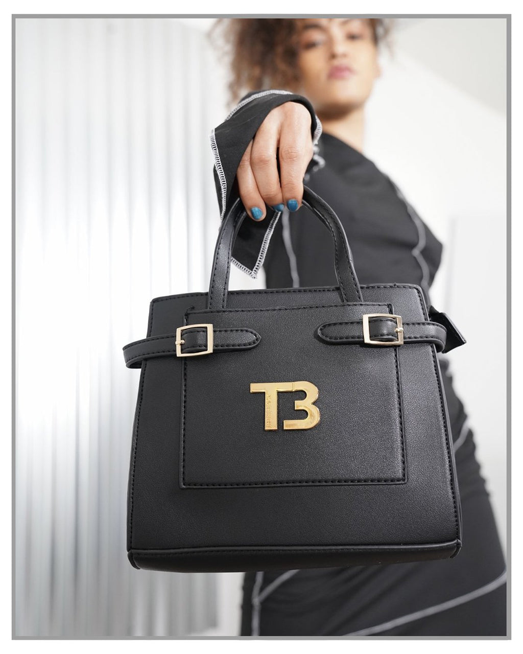Mini Parker Handbag Black with Gold Hardware - truthBlack