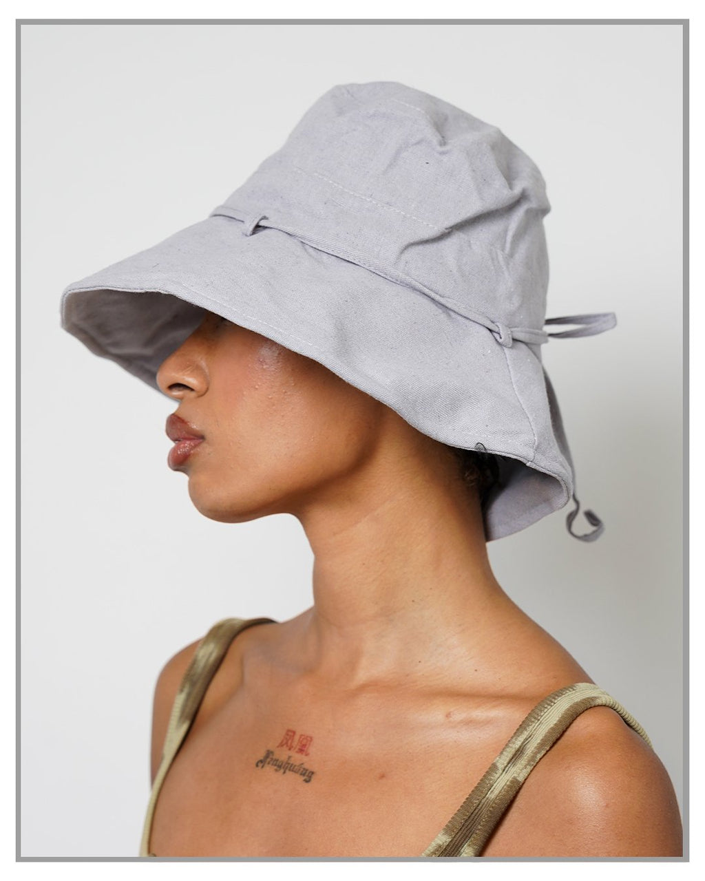Gray Canvas Bucket Hat - truthBlack