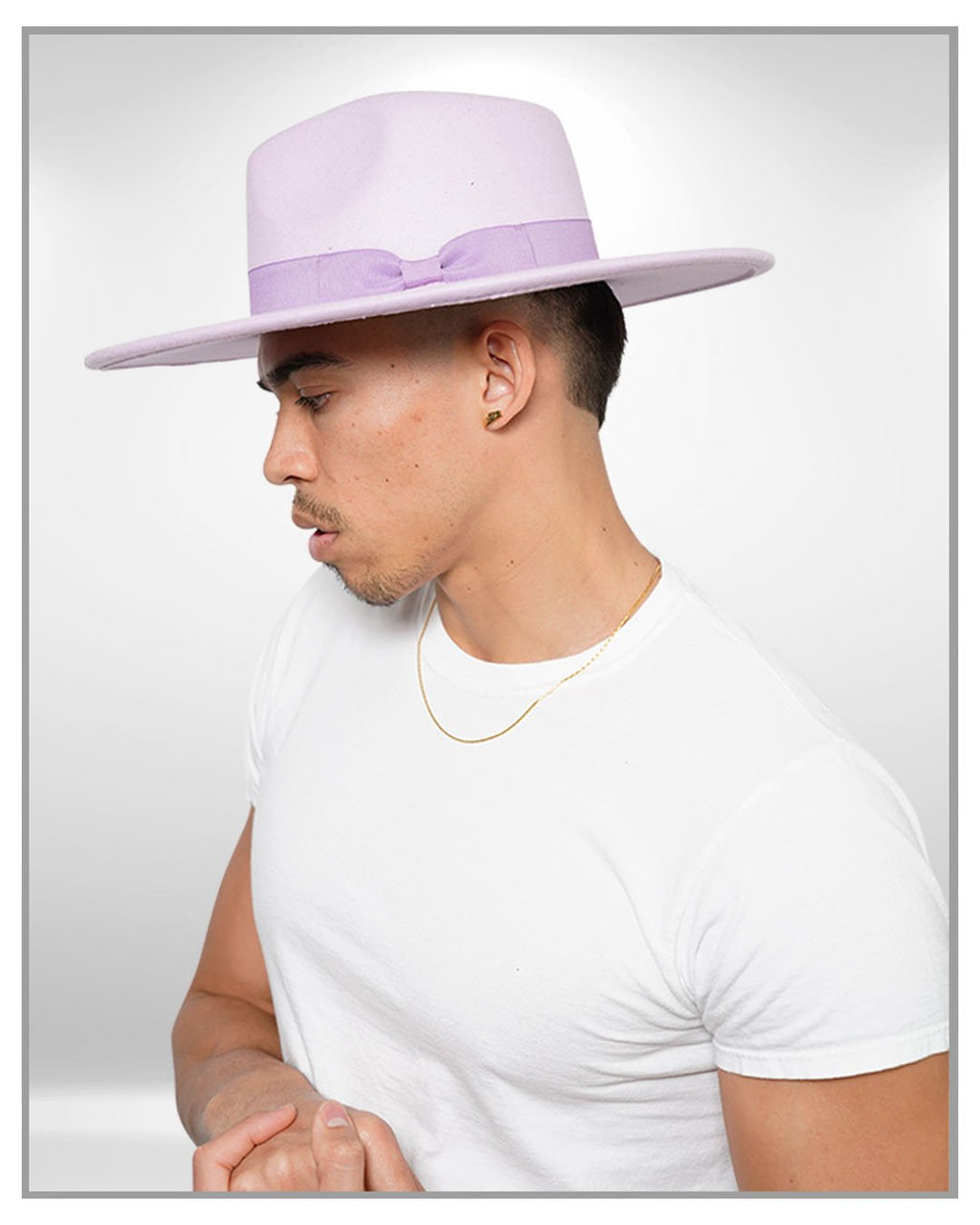 Purple Fedora Hat - truthBlack
